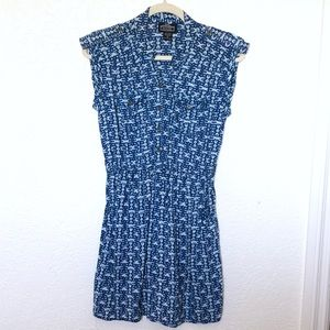 Angie Blue and white dress with pockets sz. M